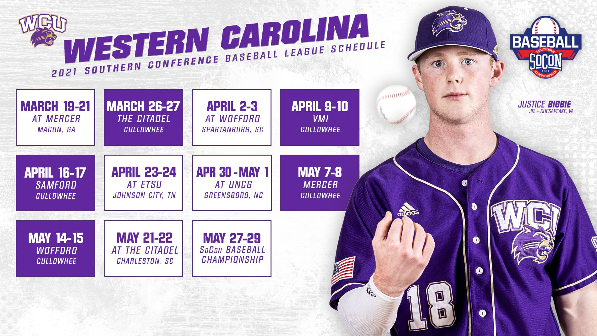 WCU's SoCon Baseball Schedule