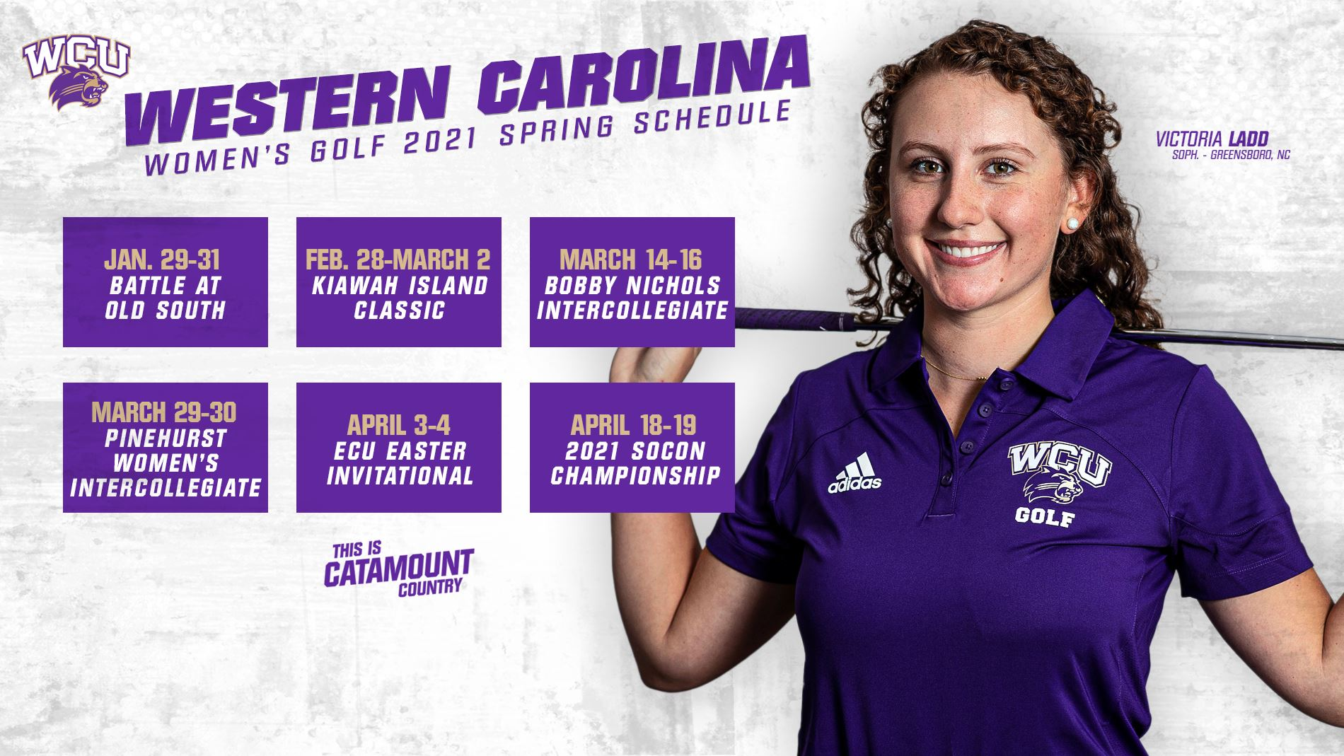 2021 Women's Golf Schedule